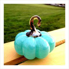 Items similar to Robins Egg Blue Solid Glass Pumpkin Paperweight on Etsy Pumpkin Show, Blue Pumpkin, Types Of Pumpkins, Creative Pumpkins, Glass Pumpkins, Antique Perfume Bottles, Pumpkin Decorating, Tiffany Blue, Hand Blown Glass