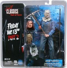 Friday the 13th Part 2 (1981) - Sack Head Jason action figure with severed Pamela Voorhees head!