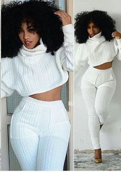 Discount Up to Tracksuit Women Two Pieces Set Knit Fitted Crop Top Casual Suits 2 Piece Outfits femenino Top And Pants Fashion Jogger Set femme Two Piece Jumpsuit, Jumpsuit Style, Jumpsuit Pattern, Pants Pattern, Look Fashion, Retro Fashion, Fashion Outfits, Fashion Design, Trendy Outfits