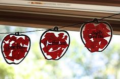 Apple garland or an apple craft project - uses contact paper and construction paper.