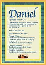 Daniel - Nombres, El significado de los nombres, Tu nombre, Tarjetas postales TuParada.com