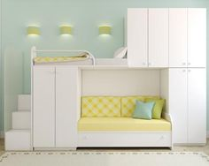 White beds with storage
