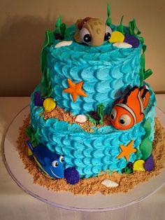 bolo decorado à procura de dory