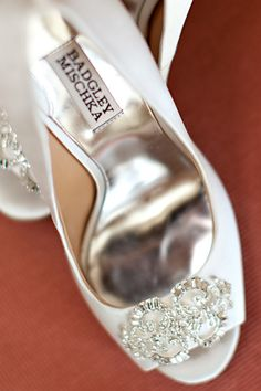 Bridal shoes with just the right amount of bling!