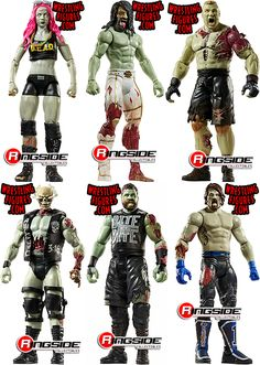 WWE Zombies Series 2 - Toy Wrestling Action Figures by Mattel! Get infected with all your favorite Zombified WWE Superstars! Figuras Wwe, Wwe Brock, John Morrison, Wwe Toys, Wwe Action Figures, Stone Cold Steve, Kevin Owens, Steve Austin, Brock Lesnar