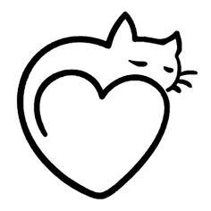 cat kitty heart