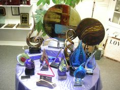 We have a large assortment of beautiful art glass awards. Who says recognition has to be ugly?