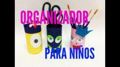 Organizador para niños / Organizador Reciclado