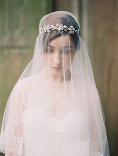 Just stunning. Headpiece and veil by @enchantedatelier photo by @Laura Jayson Gordon