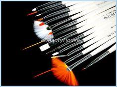 15 x Pinceau Nail Art Dotting outil de peinture #045B
