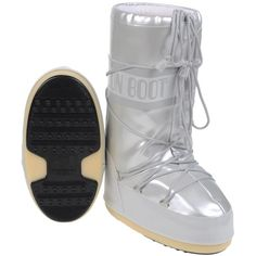 MOON BOOT MOON BOOT VINILE MET. Boots (1.740 NOK) ❤ liked on Polyvore featuring shoes, boots and moon boots