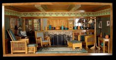 Miniature Living Room (Room-box)