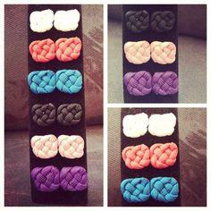 KNOTTY GAL Earrings - Knot Earrings - Knotted Earrings. $9.00, via Etsy.