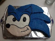 Sonic the Hedgehog Cake Tutorial. for noahs bday! Sonic Birthday Cake, Sonic Birthday Parties, Birthday Party Themes, Boy Birthday, Birthday Ideas, Birthday Cakes, Birthday Stuff, Hedgehog Cupcake, Sonic The Hedgehog Cake