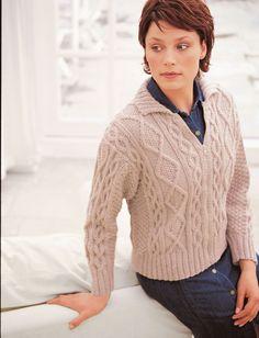 Yarnspirations.com - Patons Cabled Jacket - Patterns  | Yarnspirations