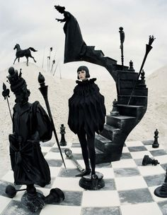 """Stop, Drop & Vogue by Taylor Aube — Eddie Campbell in""""Check Mate"""" for Vogue Italia..."""