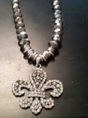 Fleur de lis Pendant with Silver Chain