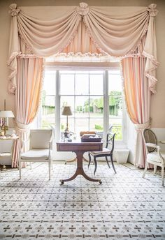 India Hick's pale pink office in Oxfordshire   domino.com