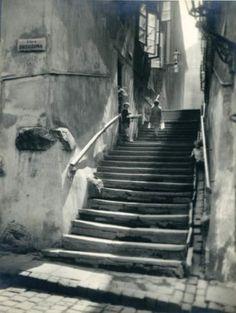 """By Zofia Chomętowska, Warsaw Poland """"Kamienne Schodki Street"""", circa 1935"""