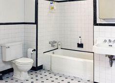 31 Retro Black White Bathroom Floor Tile Ideas And Pictures | Guest Room |  Pinterest | Casa De Banho Part 66