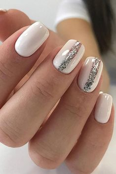 Exquisite Pastel Color Nails To Freshen Up Your Look: Milky White Pastel Colors Wedding Day Nails, Wedding Nails Design, Pastel Color Nails, Nail Colors, Pastel Colors, Pastel Shades, Nail Art Designs, Bridesmaids Nails, Bride Nails