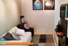 Apartamento decorado 2 dormitórios do Reserva São Vicente - Lago do Cedro no bairro Parque São Vicente - Mauá - SP - MRV Engenharia - Sala