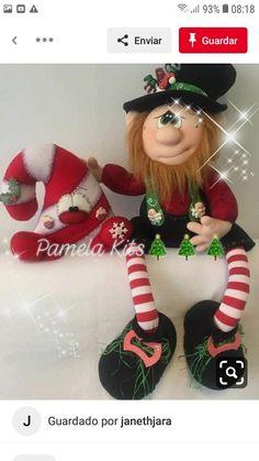 Christmas Fabric, Christmas Wreaths, Christmas Crafts, Christmas Ornaments, Fabric Decor, Diy And Crafts, Holiday Decor, Elf, Doll