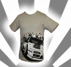 RPS13 White/Lightbrown T-Shirt *Limited Edition* (Nissan Silvia S13) JDM | eBay