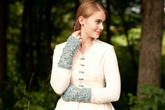 beautiful!  water lily fingerless mitts