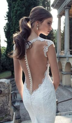 Gorgeous sleeveless lace detail wedding bridal dress
