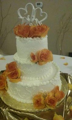 3 Tier Round Butter Cream Wedding Cake. D & D Cake Designs. Jacksonville, Florida