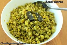 Cooking at Mayflower: Kerala beans thoran / Green beans with coconut