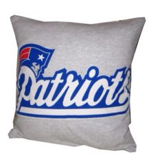 New England Patriots football recycled t-shirt pillow