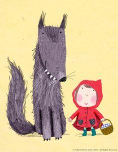Little Red Riding Hood - Le petit Chaperon Rouge Little Red Ridding Hood, Red Riding Hood, Illustration Inspiration, Children's Book Illustration, Chez Laurette, Illustration Mignonne, Red Hood, Art Plastique, Illustrators
