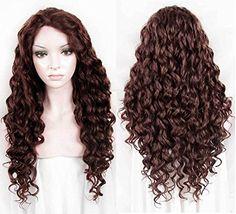 Diy-Wig Long Beautiful Full Brown Curly Very Natural Look…