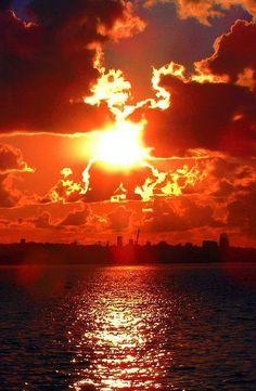 Burning sky .....