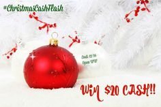 $20 Christmas Cash Flash Giveaway