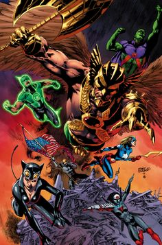 JUSTICE LEAGUE OF AMERICA #14 Written by MATT KINDT Art and cover by EDDY BARROWS and EBER FERREIRA