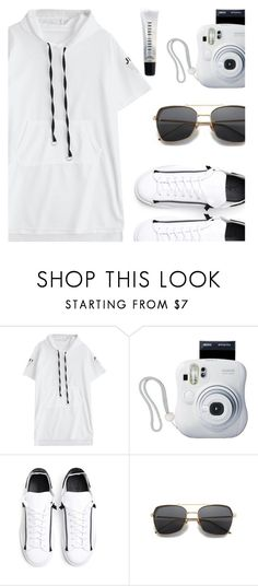 """""""Monochrome love"""" by deeyanago ❤ liked on Polyvore featuring Fujifilm, Y-3 and Bobbi Brown Cosmetics"""