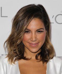 Liz Hernandez Hairstyle - Medium Wavy Casual - Medium Brunette