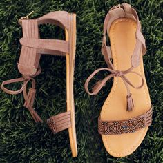 Rayne Beaded Sandals - Taupe #Fashion #style #LOVE