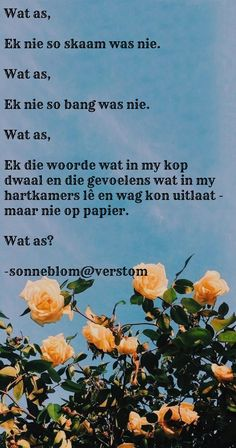 Afrikaanse Quotes, Captions, Verses, Qoutes, Songs, Poems, Quotations, Quotes, Song Books