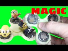 Best Magic Slime Fidget Spinner With Minions And Magic Blind Bag Surprise - YouTube