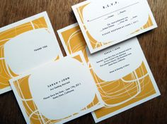 Circles Printable Wedding Correspondence Set by empapers on Etsy, $65.00