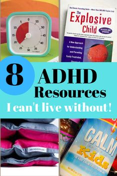 Here are 8 ADHD Resources I can not live without! These products, books, and supplements help my kids stay calmer and more focused. We've tried and tested these .some have been working for us for many years. See which ones will work for you.