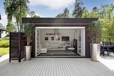 Garden room outdoor Incredible Cozy Outdoor Rooms Design And Decorating Ideas Outdoor garden rooms have existed since the introduction of the garden. In the ordinary house, and its rather easy to find wasted space. Outdoor Garden Rooms, Outdoor Spaces, Outdoor Living, Outdoor Decor, Tiny House, Pool House Shed, Architecture Renovation, Garden Cabins, Studio Shed