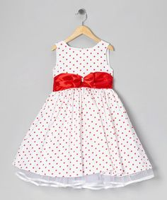 Take a look at this Red Polka Dot Bow Dress - Infant, Toddler & Girls on zulily today!