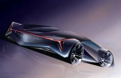 From Car Body Design | Cadillac Concept Car Design Sketch by: Deven Row