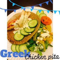 "81 Likes, 2 Comments - Shelby Nicole (@shelbyshealthykitchen) on Instagram: ""Switched it up a bit for dinner tonight: Greek Chicken Pita!  Super easy to make!  Topped w/ a…"""