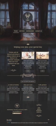 Logo and website design concept for a fictional wedding agency by designer SecondsEight. – Jimdo template: Rio de Janeiro – Visit their full site here: http://rederweddings.jimdo.com/
